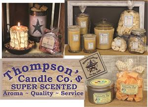 Varieties of Thompson's hand crafted products.