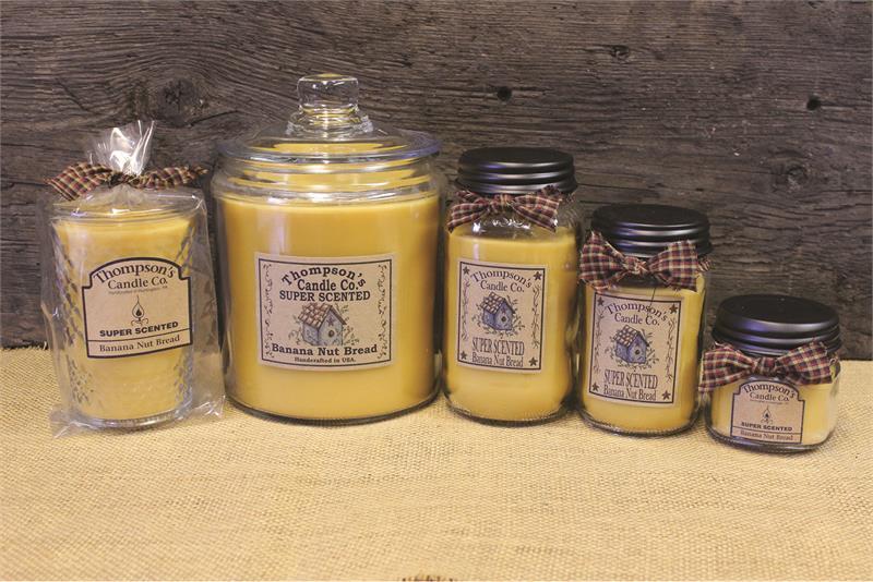 Banana Nut Bread Super Scented Jar Candles